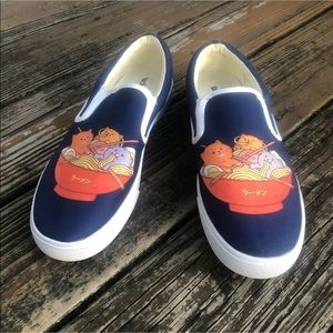 Bucketfeet Cat Faces Sneakers Womens 11 M 9.5 42.5